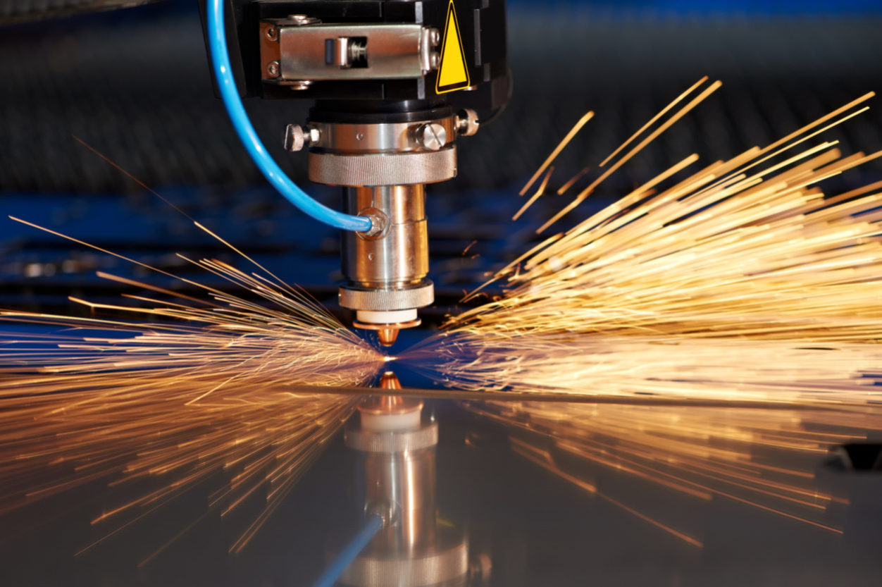 This is a photo of a laser cutter being used